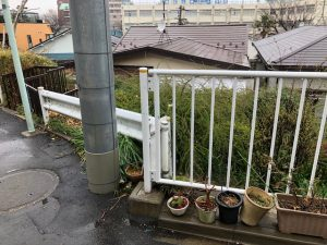 港区の再建築不可物件調査(擁壁の上で接道しているか…)